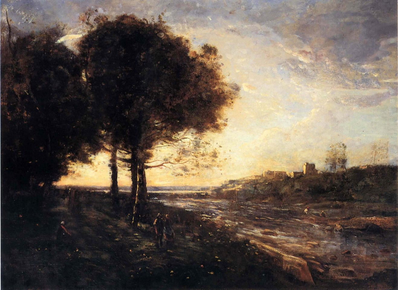 Jean Baptiste Camille Corot ,   Un Torrent dans des Romagnes  ,  1872     Oil on canvas ,  25 7/8 x 35 3/4 in. (65.7 x 90.8 cm)     COR-006-PA