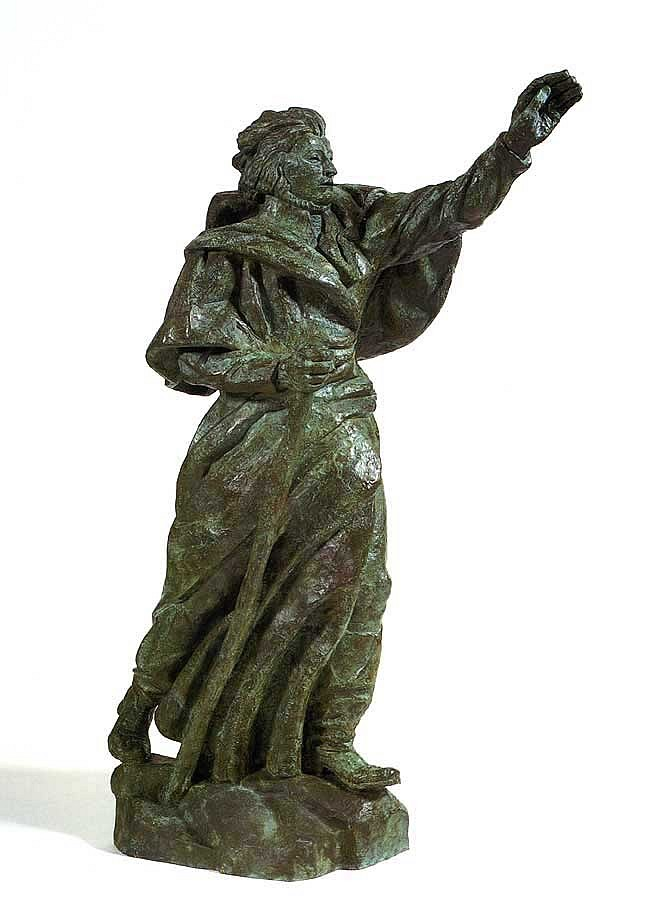 Antoine Bourdelle ,   Adam Mickiewicz (Le Poete)  ,  1924     Bronze ,  102 1/2 x 42 1/4 x 65 1/2 in. (260.4 x 107.3 x 166.4 cm)     Male figure standing with left arm raised     BOU-002-SC