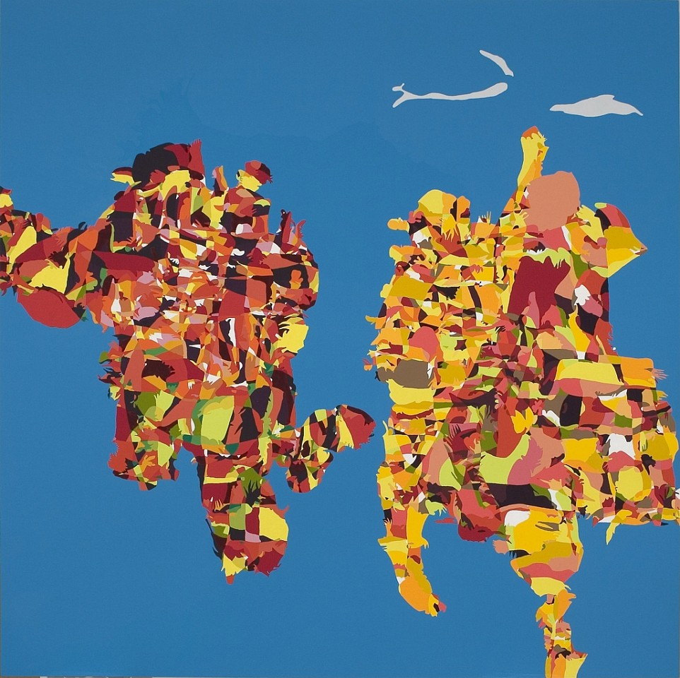 Beth Reisman ,   Skyscape (Sisters)  ,  2006     Acrylic on panel ,  60 x 60 in. (152.4 x 152.4 cm)     REI-009-PA